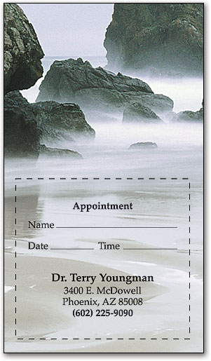 Ocean Mist Sticker Appointment Card