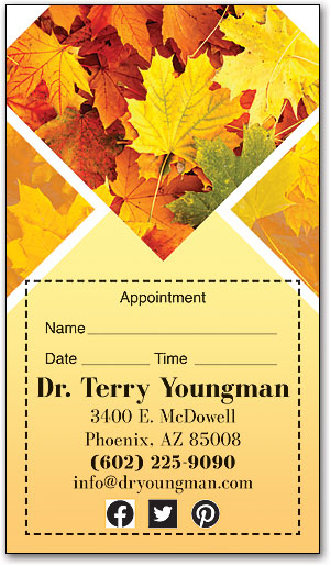 Fall Maple Sticker Appointment Card