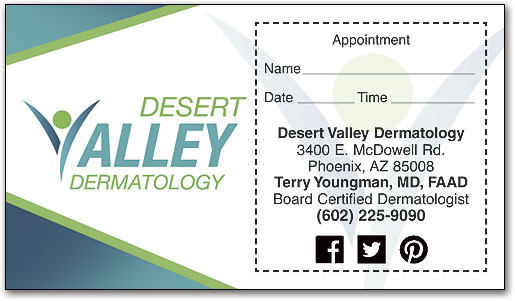 Custom Full-color Sticker Appointment Cards