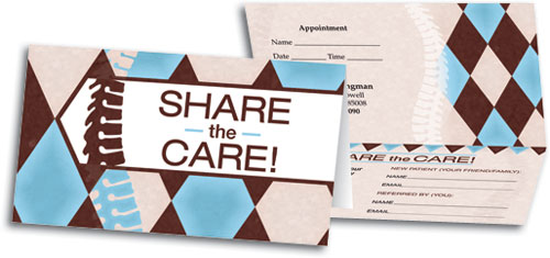 Spine Diamond Perforated Referral Ointment Business Card