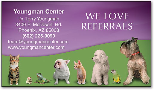 Veterinary business cards smartpractice veterinary pet lineup referral business card by smartpractice colourmoves