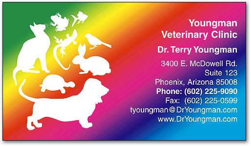 Veterinary business cards smartpractice veterinary rainbow of pets appointment business cards by smartpractice reheart Image collections