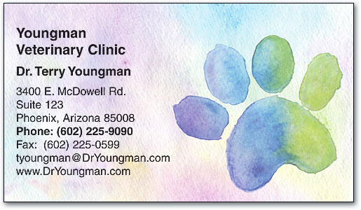 Pastel Paw Appointment Business Cards