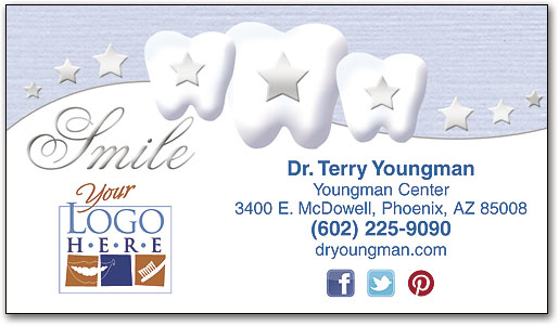 Dental practice business cards wide selection smartpractice dental silver smile semi custom business card colourmoves