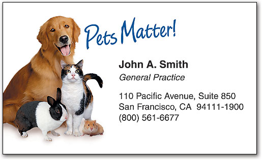 Standard business cards smartpractice veterinary business card colourmoves