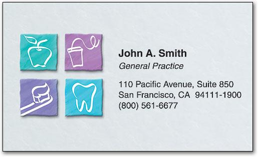 dental squares restix business card