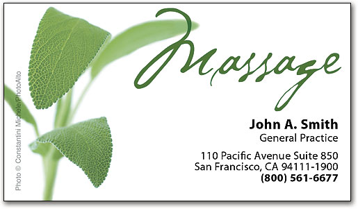 Spread the word with massage therapy business cards smartpractice natural therapymassage business appointment card by smartpractice colourmoves