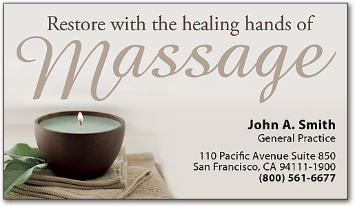 Spread the word with massage therapy business cards smartpractice restore healing hands business appointment card by smartpractice colourmoves