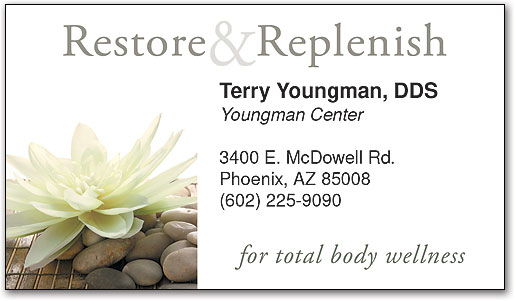 restore replenish business appointment card by smartpractice - Massage Therapy Business Cards