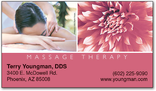 Spread the word with massage therapy business cards smartpractice massage therapywoman business appointment card by smartpractice colourmoves