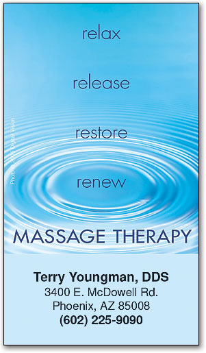 Standard business cards smartpractice chiropractic massage therapyrelax business appointment card colourmoves