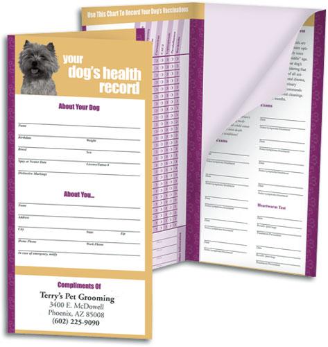veterinary pet health records education brochures smartpractice