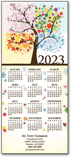 Tri Fold Calendars Continuously Promote Your Practice
