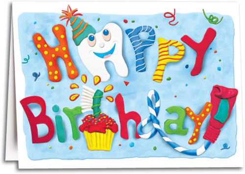 Colorful Dental Birthday Folding Card By SmartPractice