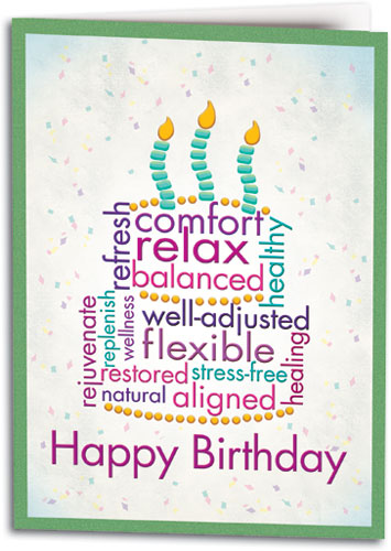 Birthday Word Cake Chiro Folding Card By SmartPractice