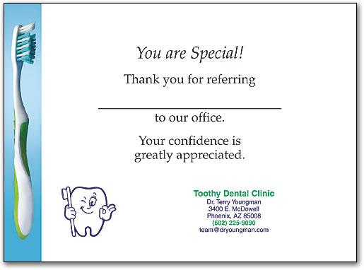 Dental Thank You Folding Cards Are The Elegant Choice