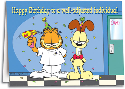 Well Adjusted Individual Folding Card By Garfield