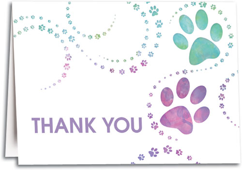 tie dye prints thank you folding card smartpractice veterinary