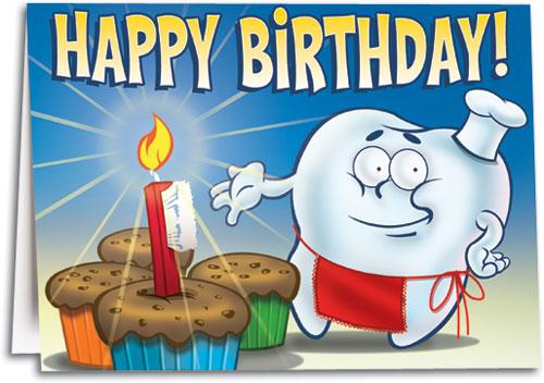 Birthday folding cards smartpractice dental birthday baker customizable folding card m4hsunfo