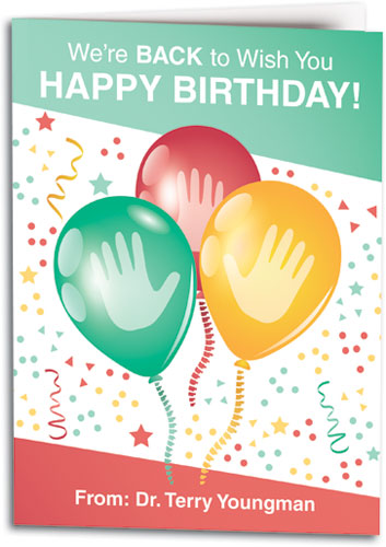 Birthday Cards With Hand Spine Designs Smartpractice Chiropractic