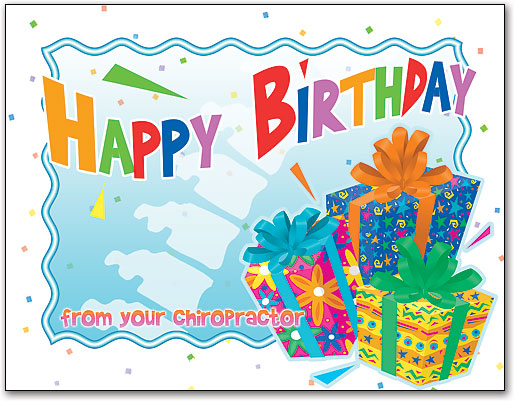 Birthday cards with hand spine designs smartpractice chiropractic birthday gifts note sized folding card bookmarktalkfo Gallery