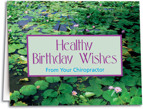 Nature and scenic photograph birthday cards smartpractice chiropractic birthday wishlily pad note sized folding card m4hsunfo