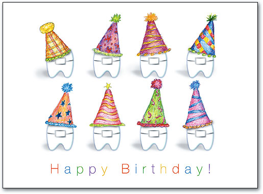 Ortho Party Hat Braces Folding Card