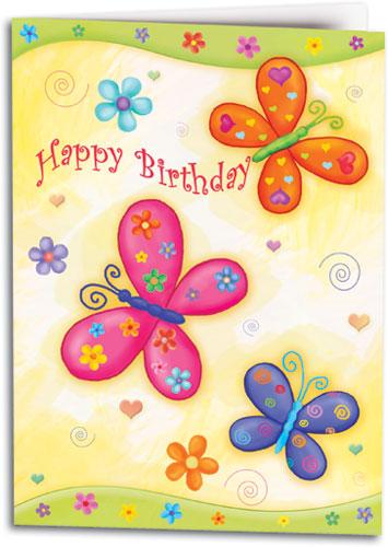 Pretty Birthday Butterflies Folding Card Smartpractice Medical
