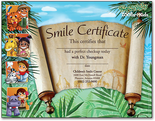 Certificates Make Kids Feel Like Superstar Patients – Certificate of Achievement for Kids
