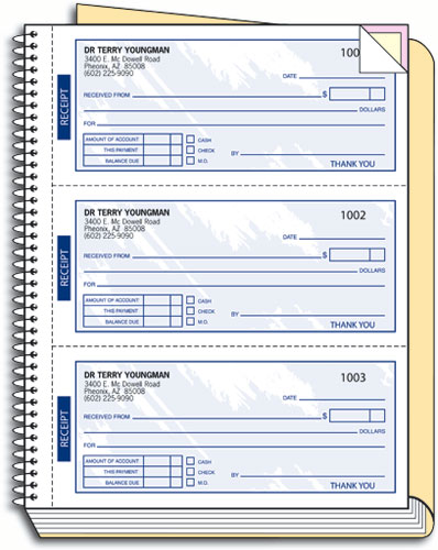 Personalized Receipt Book By SmartPractice Regard To Payment Receipt Book