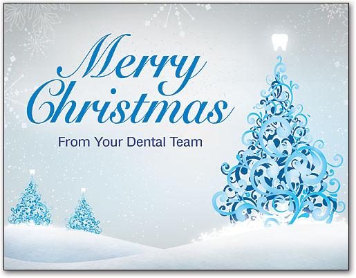 Dental christmas cards quality patient greetings smartpractice bevy of branches 4 up laser card m4hsunfo