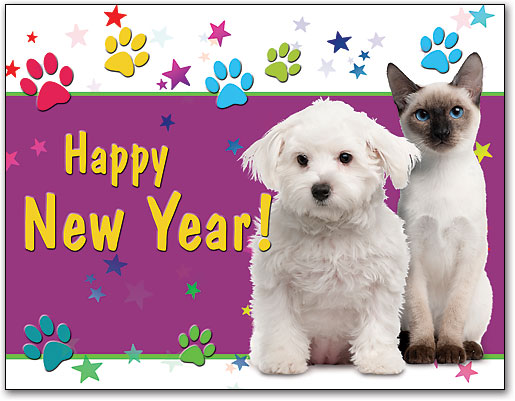 new year cheer 4 up laser card