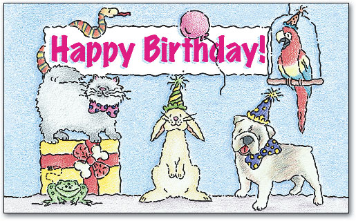 Storybook Birthday 3 Up Laser Card