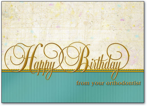Fancy Birthday Ortho Postcard