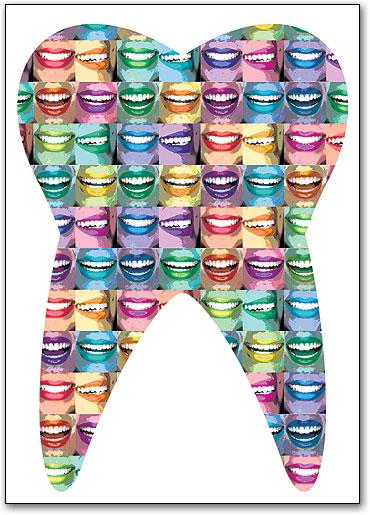 Graphic Art Tooth Smiles Postcard   SmartPractice Dental