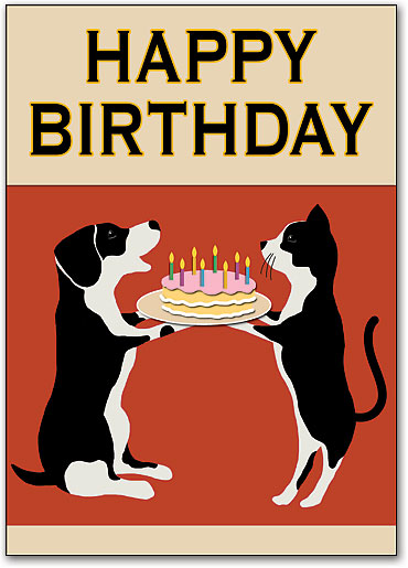 Retro birthday cake pets postcards smartpractice veterinary retro birthday cake pets postcards by smartpractice bookmarktalkfo Gallery