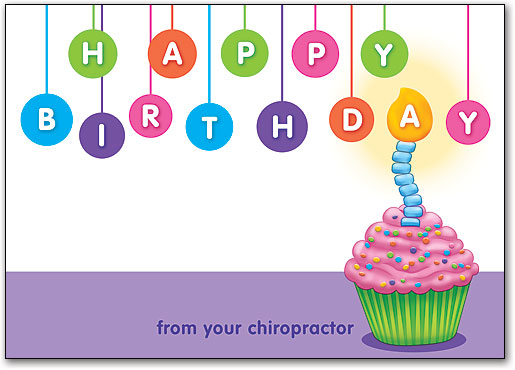 Birthday postcard designs for your chiropractic patients color circles cupcake birthday postcard bookmarktalkfo Image collections