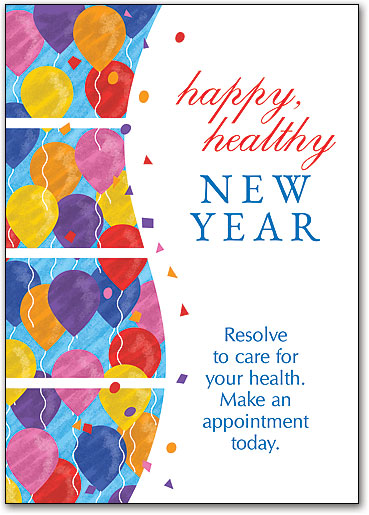 New Year\'s-themed Cards | SmartPractice Chiropractic