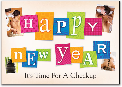 new year collage customizable postcard