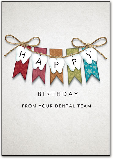 Dental Birthday Postcards Wide Variety Of Fun Designs