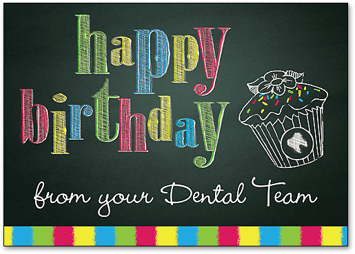 Birthday Cards Dental Patient Greetings High Quality Wide