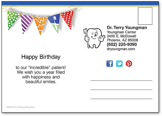 Dental flags birthday postcard smartpractice dental bookmarktalkfo Image collections