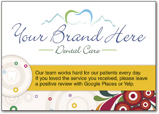 request online reviews with cards signs and bags smartpractice dental