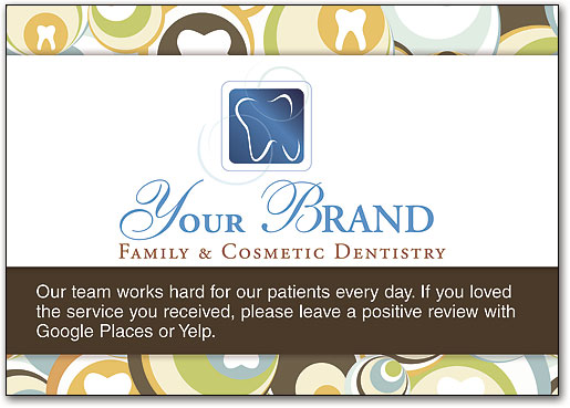 Request online reviews with cards signs and bags smartpractice dental retro swirls review postcard by smartpractice reheart Choice Image