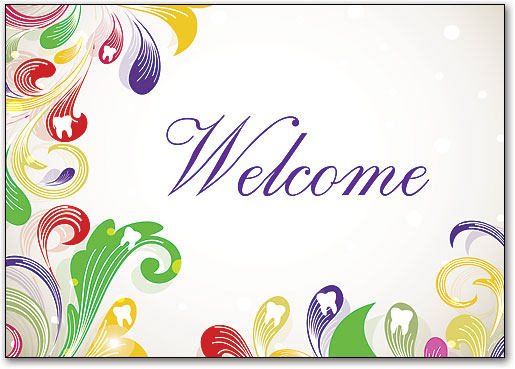 Welcome new patient with dental welcome postcards smartpractice dental flourishing teeth welcome postcard m4hsunfo