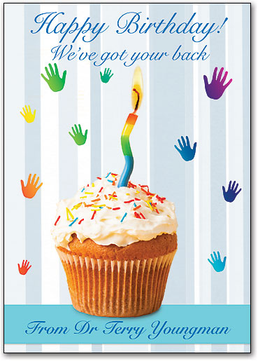 Birthday Sprinkles Customizable Postcard