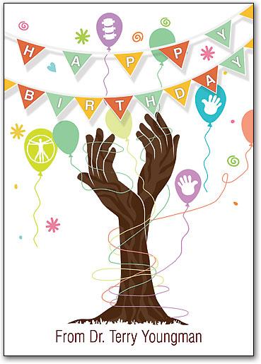 Birthday Banners Customizable Postcard SmartPractice Chiropractic