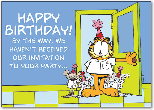 Birthday Party Invitation Postcard Smartpractice Eye Care