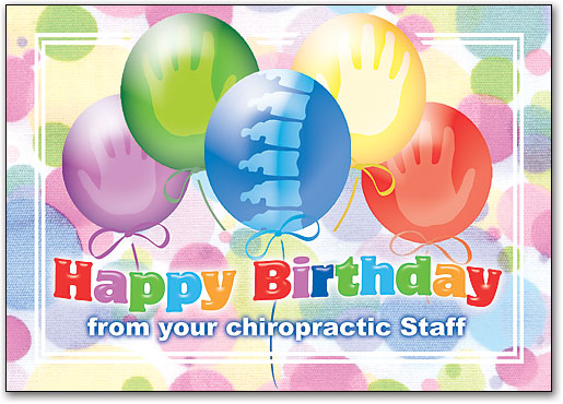 Birthday Postcards With Hand Spine Designs Smartpractice