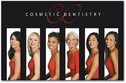 Cosmetic Dentistry Oversized Postcard   SmartPractice Dental